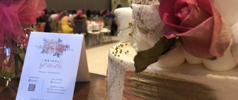 Café y pastel con amigas. Un lindo bridal brunch. Gracias.